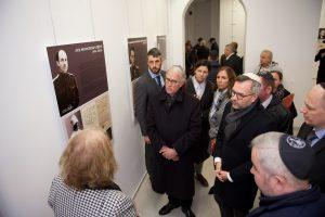 Слева направо: управляющий АВЕРС в Германии Герман Мойжес, посол ФРГ Рюдигер фон Фрич, специальный уполномоченный по вопросам антисемитизма Михаэла Кюхлер и министр Михаэль Рот
